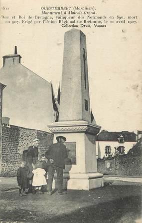 "/ CPA FRANCE 56 ""Questembert, monument d'Alain Le Grand"""