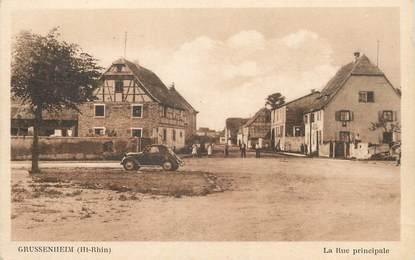 "/ CPA FRANCE 68 ""Grussenheim, la rue principale"""