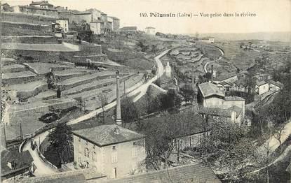 """CPA FRANCE 42 """"Pélussin, vue prise de la rivière"""""""