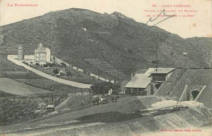 "CPA FRANCE 66 ""Port Vendres, tunnel du transit du minerai de la voie ferrée à la mer"" / MINE"