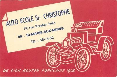 """/ CPA FRANCE 68 """"Sainte Marie aux Mines, auto école Saint Christophe"""""""