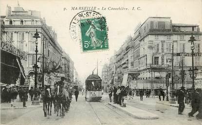 """CPA FRANCE 13 """"Marseille, La Cannebière"""""""