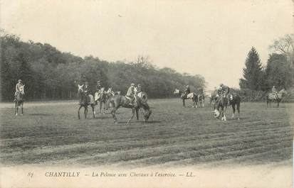 "/ CPA FRANCE 60 ""Chantilly"" / CHEVAUX"