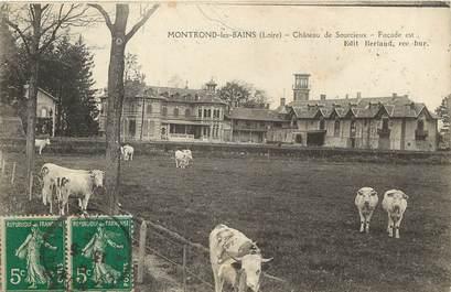 """CPA FRANCE 42 """"Montrond les Bains, chateau de Sourcieux, façade est"""""""