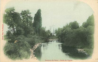 "CPA FRANCE 42 ""Env. de Feurs, bords du Lignon"""