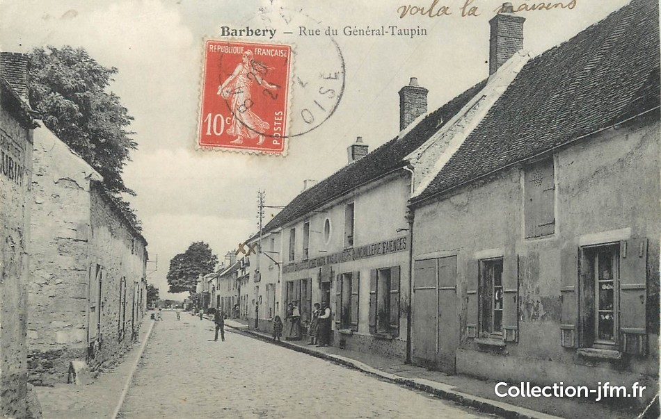Cpa france 60 barbery rue du g n ral taupin 60 oise for Liste communes oise