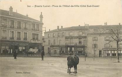 """CPA FRANCE 42 """"Feurs, place de l'Hotel de ville"""""""