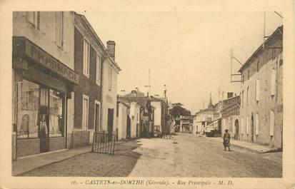 "/ CPA FRANCE 33 ""Castets en Dorthe, rue principale"""