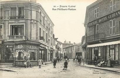 "CPA FRANCE 42 ""Feurs, rue Philibert Motton"""