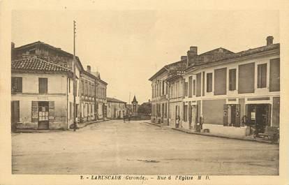 """/ CPA FRANCE 33 """"Laruscade, rue de l'église"""""""