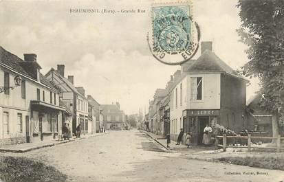 "/ CPA FRANCE 27 ""Beaumesnil, grande rue"""