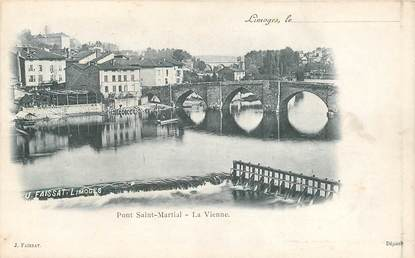 "CPA FRANCE 87 ""Limoges, le pont Saint Martial, la Vienne"""