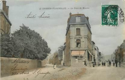"""CPA FRANCE 42  """"Le Chambon Feugerolles, la croix de mission"""""""
