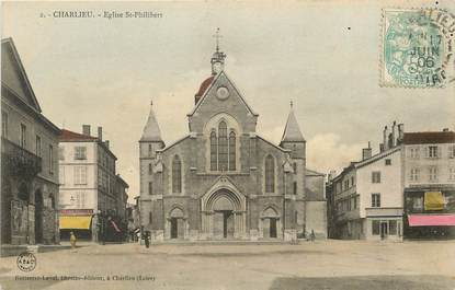 "CPA FRANCE 42  ""Charlieu, Eglise Saint Philibert"""