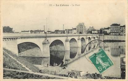 """CPA FRANCE 42  """"Le Coteau, le pont"""""""