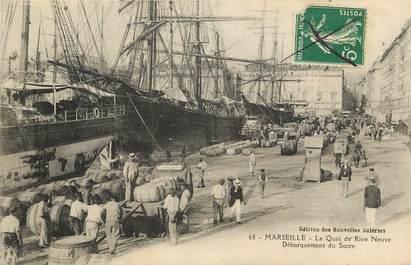 """CPA FRANCE 13 """"Marseille, Débarquement du Sucre"""""""
