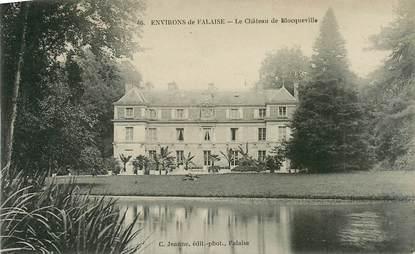 """CPA FRANCE 14 """"Env. de Falaise, le chateau de Blocqueville"""""""