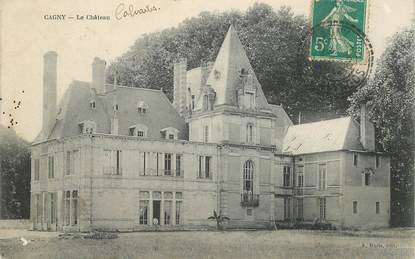 """CPA FRANCE 14 """"Cagny, le Chateau"""""""