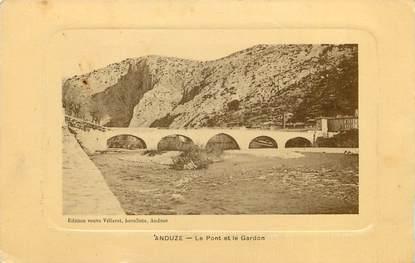 """CPA FRANCE 30 """"Anduze, le pont du Gardon"""""""