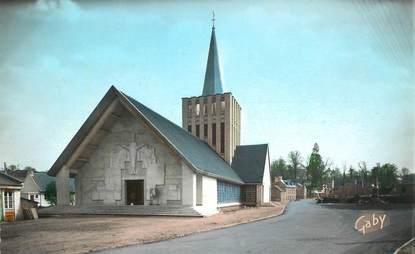 """CPSM FRANCE 14 """"Bretteville sur Laize, l'Eglise"""""""