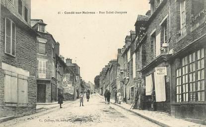 """CPA FRANCE 14 """"Condé sur Noireau, rue Saint Jacques"""""""