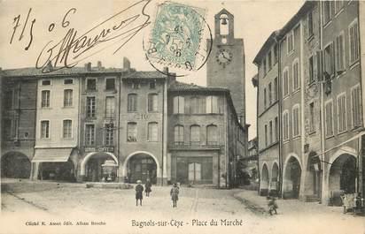 """CPA FRANCE 30 """"Bagnols sur Cèze, place du marché"""""""