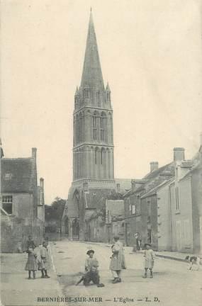 """CPA FRANCE 14 """"Bernières sur Mer, l'Eglise"""""""
