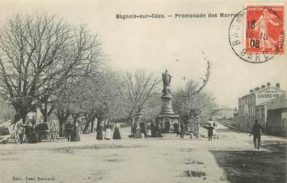 "CPA FRANCE 30 ""Bagnols sur Cèze, promenade des marronniers"""