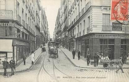 """/ CPA FRANCE 44 """"Nantes, rue Jean Jacque Rousseau"""""""