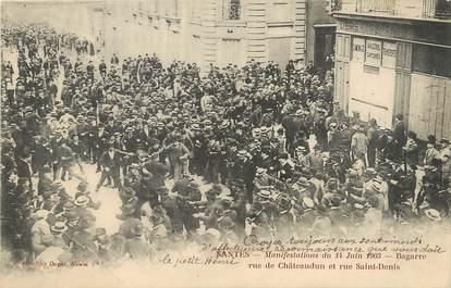 "/ CPA FRANCE 44 ""Nantes, manifestation du 14 juin 1903"""