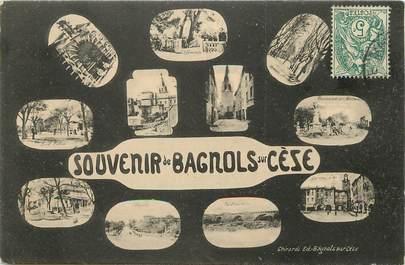 """CPA FRANCE 30 """"Souvenir de Bagnols sur Cèze"""""""