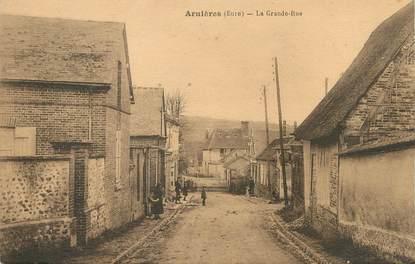 """/ CPA FRANCE 27 """"Arnières, la grande rue"""""""
