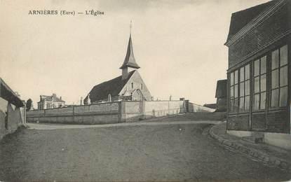 """/ CPA FRANCE 27 """"Arnières, l'église"""""""