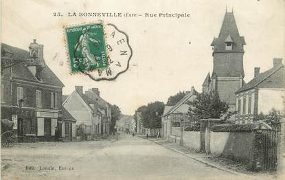 """/ CPA FRANCE 27 """"La Bonneville, rue principale"""""""