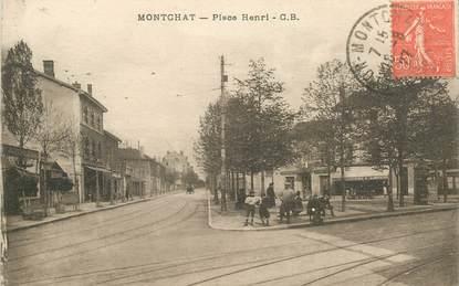 """CPA FRANCE 69 """"Lyon, Montchat, Place Henri"""""""