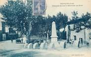 """30 Gard CPA FRANCE 30 """"Fourques, promenade des Lices et le monument aux morts"""""""