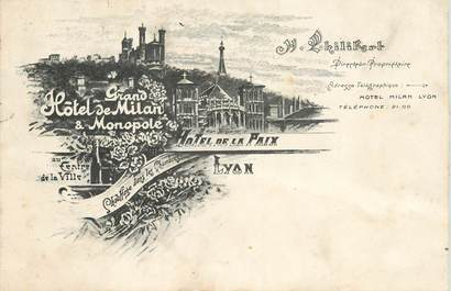 "CPA FRANCE 69 ""Lyon, Hotel de la Paix"""