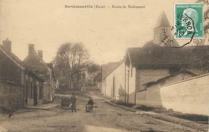 "/ CPA FRANCE 27 ""Berthenonville, route de Molincourt"""