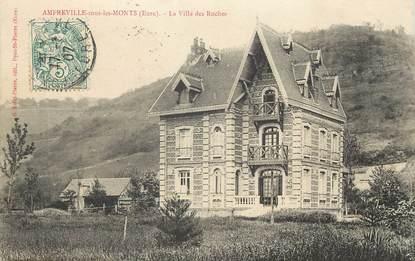 """/ CPA FRANCE 27 """"Amfreville sous les Monts, la villa des Roches"""""""