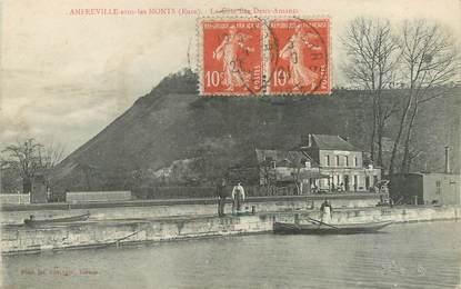 """/ CPA FRANCE 27 """"Amfreville sous les Monts, la côte des deux amants"""""""