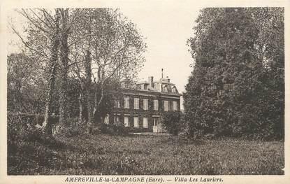 """/ CPA FRANCE 27 """"Amfreville la Campagne, villa les Lauriers"""""""