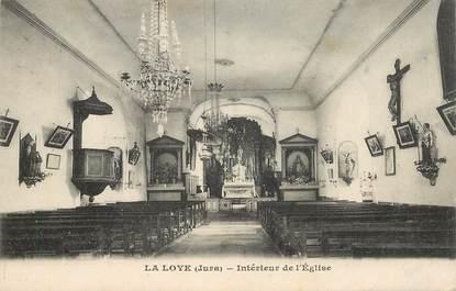 """CPA FRANCE  39 """"La Loye, interieur de l'Eglise"""""""