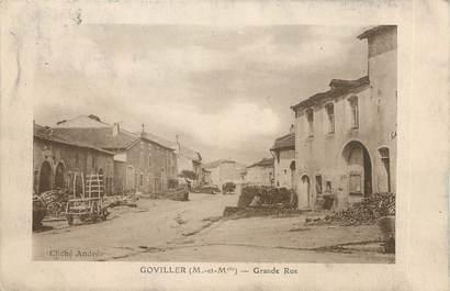 "/ CPA FRANCE 54 ""Goviller, grande rue"""