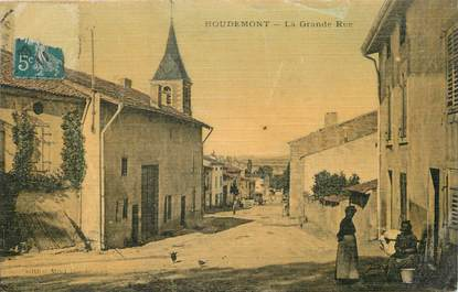 "/ CPA FRANCE 54 ""Houdemont, la grande rue"""