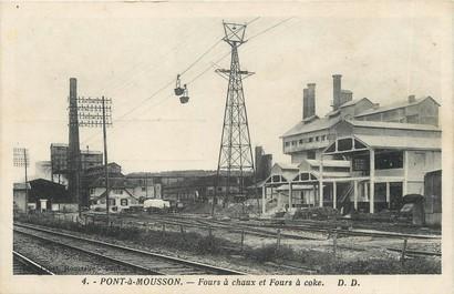 """/ CPA FRANCE 54 """"Pont à Mousson, fours à chaux et fours à Coke"""""""