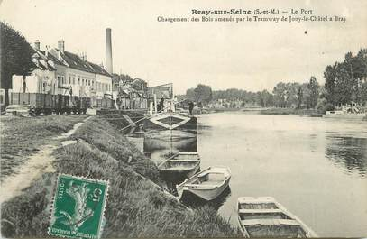 """/ CPA FRANCE 77 """"Bray sur Seine, Le port"""""""