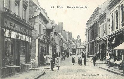 "/ CPA FRANCE 80 ""Ham, rue du général Foy"""