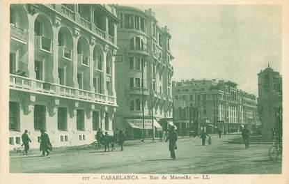 """CPA MAROC """"Casablanca, rue de Marseille"""""""