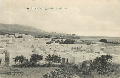 """CPA TUNISIE """"Bizerte, quartier des Andalous"""""""