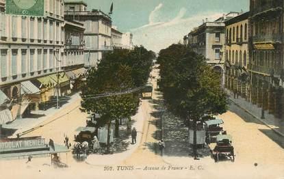 "CPA TUNISIE ""Tunis, Avenue  de  France"""